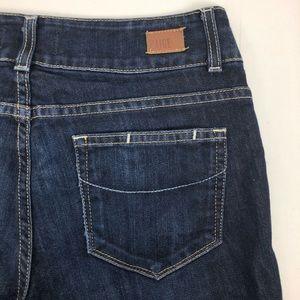 Paige Hidden Hills Boot Cut Dark Wash Blue Jeans